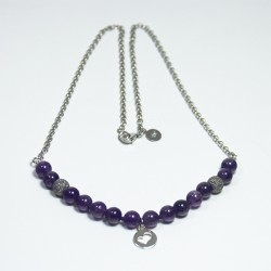 Amethyst Necklace with spherical