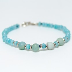 Agata and amazonite bracelet