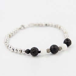 White coral bracelet and washed